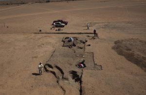 Il sito archeologico di Al Khiday durante lo scavo