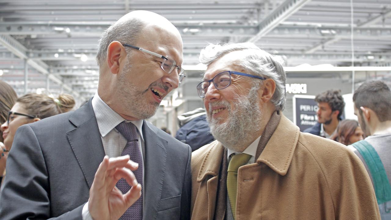 franco pastrone e Prof. Albrecht Beutelspacher