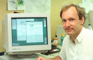 Tim Berners-Lee al CERN.