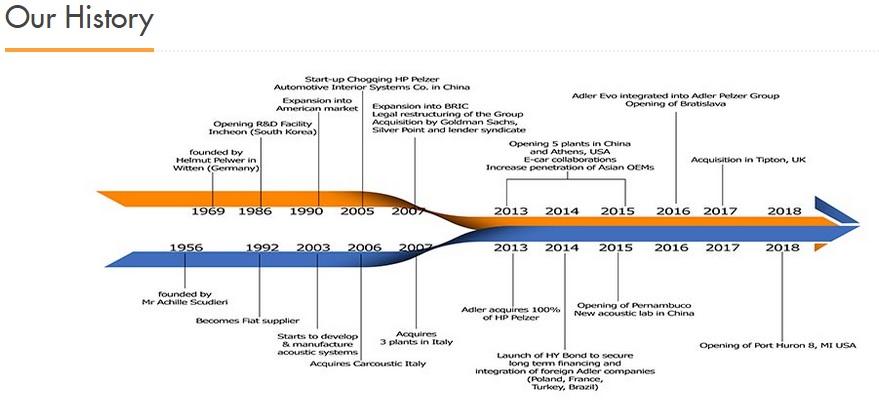 Storia della Adler Pelzer Group