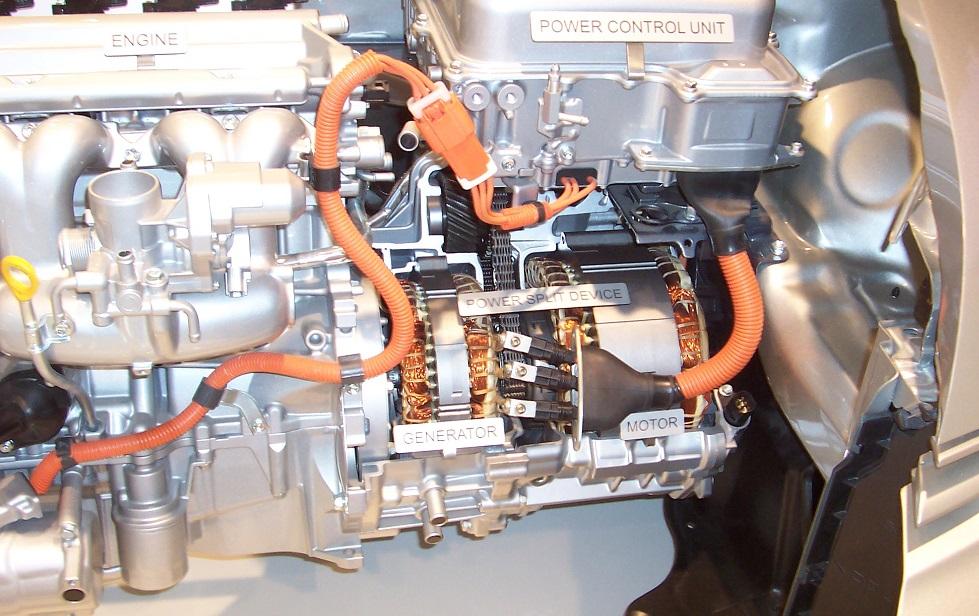 Esempio di motore ibrido (fonte Wikipedia)