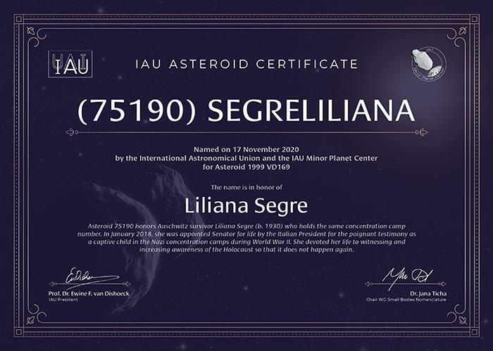 Segre liliana asteroide