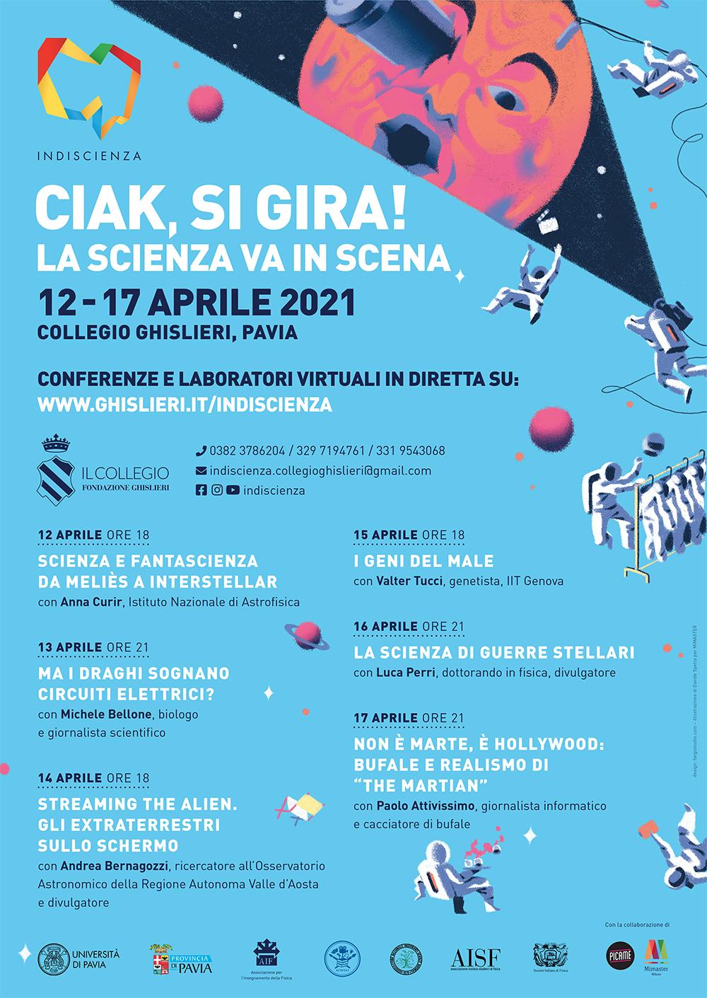 Ciak, il festival della scienza va in scena a Pavia